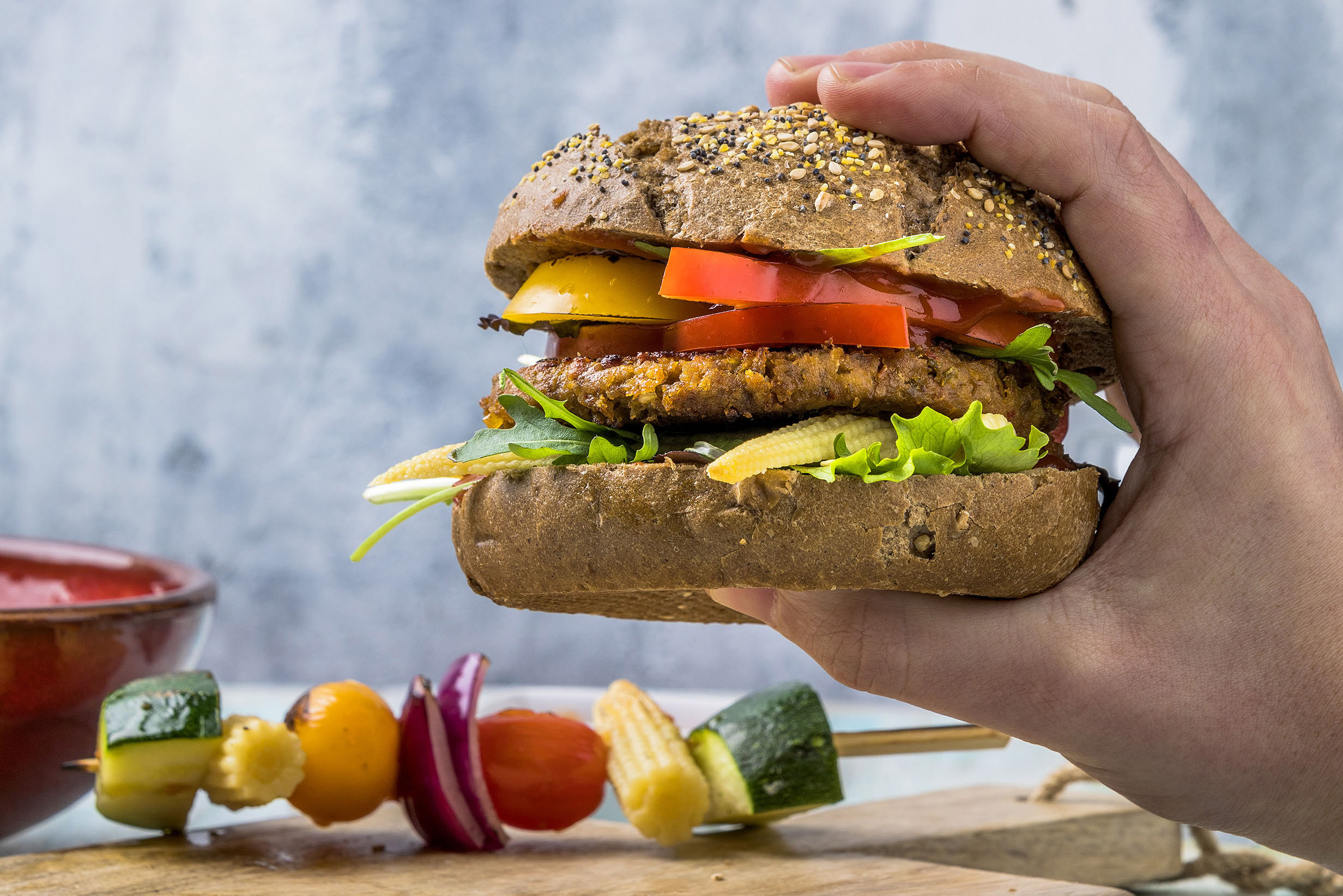 Jan Zandbergen Group - FiftyFifty plantaardige vega-burger